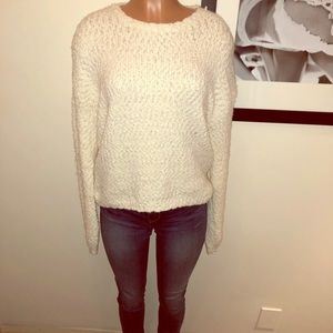 Cozy chunky sweater with subtle hint of silver